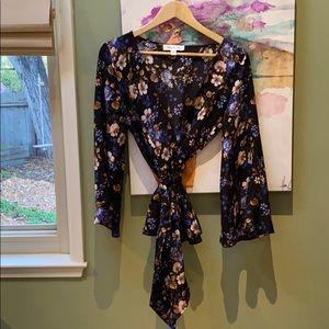 Amour Vert Virginia Floral Silk Blouse
